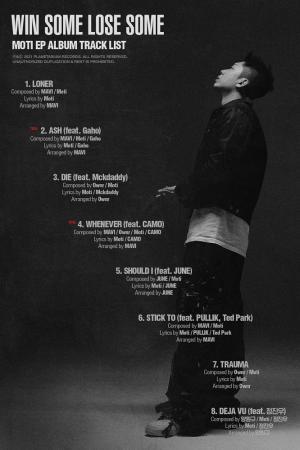 모티(Moti), 미니앨범 'WIN SOME LOSE SOME' 트랙리스트 공개